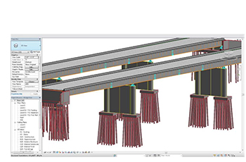 Screenshot of model of bridge