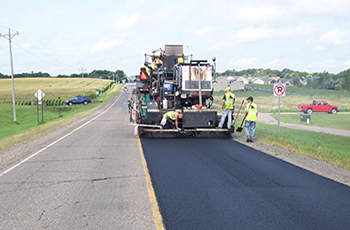 Image of pavement work being done