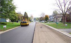 Image of full-depth reclamation of asphalt pavement