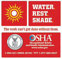 Screenshot of Osha heat ad