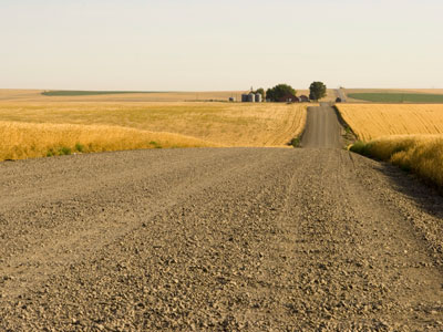 gravel country road