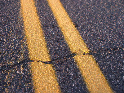 Image of cracked road